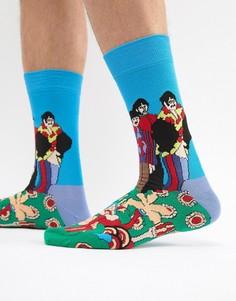 Носки Желтая субмарина Happy Socks x The Beatles - Синий