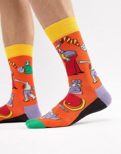 Носки Желтая субмарина Happy Socks x The Beatles - Оранжевый