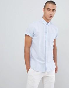 Синяя рубашка с короткими рукавами Lindbergh - Синий