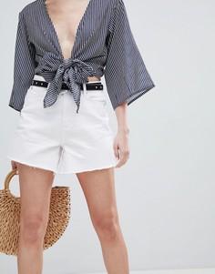 Джинсовые шорты в винтажном стиле New Look - Белый