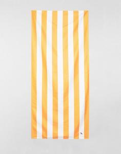 Большое пляжное полотенце оранжевого цвета в полоску Dock & Bay - Оранжевый