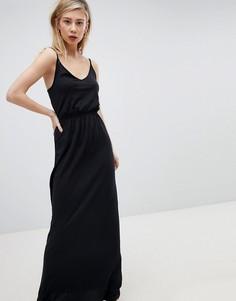 Платье макси на бретелях New Look - Черный