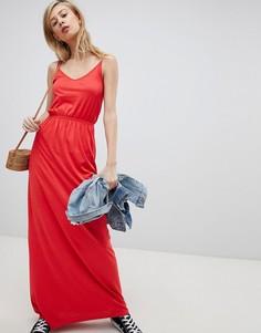 Платье макси на бретелях New Look - Красный
