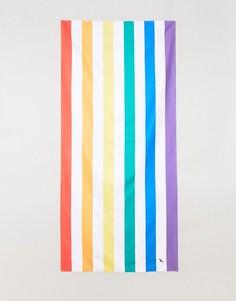 Большое пляжное полотенце в полоску цветов радуги Dock & Bay - Мульти