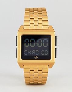 Золотистые электронные наручные часы Adidas Z01 Archive - Золотой