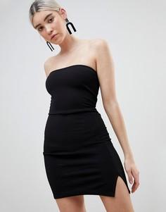 Платье-бандо мини Boohoo - Черный