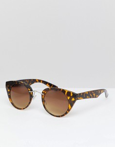 Солнцезащитные очки кошачий глаз в черепаховой оправе 7X - Коричневый