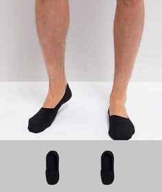 2 пары невидимых носков Calvin Klein - Черный