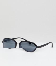 Черные солнцезащитные очки-авиаторы AJ Morgan - Черный