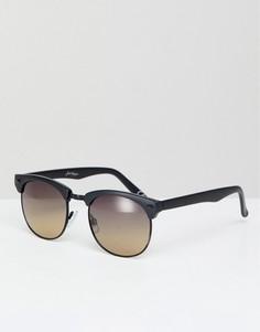 Солнцезащитные очки в cтиле ретро с черной оправой и градиентными стеклами Jeepers Peepers - Черный