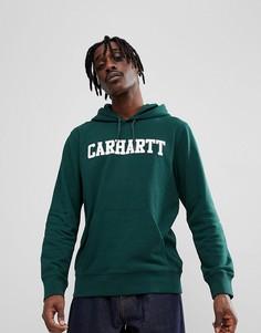 Худи зеленого цвета Carhartt WIP College - Зеленый