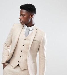Облегающий пиджак из твида Noak - Бежевый