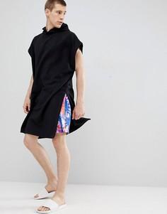 Черное полотенце с капюшоном ASOS DESIGN - Черный