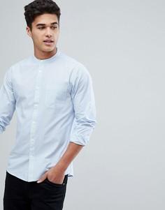 Рубашка в полоску с воротником на пуговицах Solid - Синий