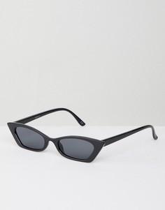 Солнцезащитные очки кошачий глаз ASOS DESIGN - Черный