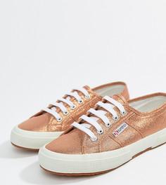 Розовые кроссовки металлик Superga 2750 - Розовый