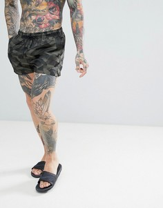 Жаккардовые короткие шорты для плавания Calvin Klein - Зеленый