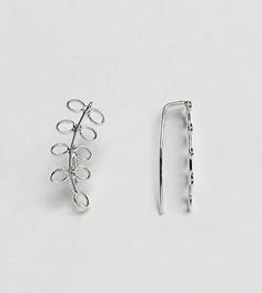 Серебряная серьга в форме листика Kingsley Ryan - Серебряный