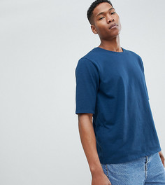 Трикотажная фактурная оверсайз-футболка Noak - Темно-синий