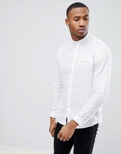 Белая рубашка с воротником на пуговицах и длинными рукавами Celio - Белый