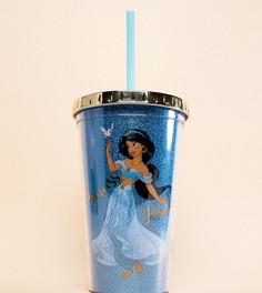Стакан для воды с дизайном Жасмин и соломинкой Disney - Мульти BB Designs