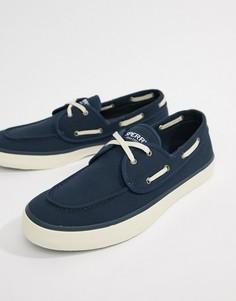 Темно-синие мокасины-кроссовки Sperry Topsider - Темно-синий