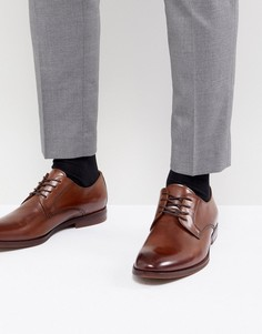 Светло-коричневые кожаные туфли дерби ALDO - Рыжий
