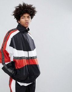 Черная спортивная куртка в стиле колор блок Granted - Черный