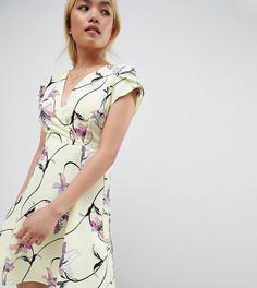 Чайное платье с цветочным принтом Vero Moda Petite - Мульти