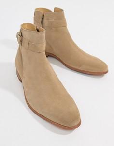 Песочные замшевые ботинки челси с ремешками ASOS DESIGN - Светло-бежевый