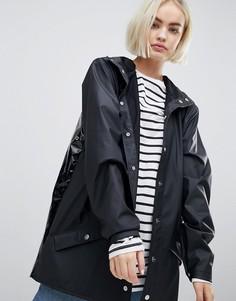Блестящая куртка Rains - Черный