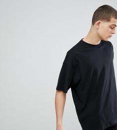 Черная оверсайз-футболка с круглым вырезом ASOS DESIGN Tall - Черный