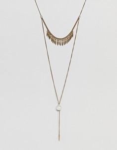 Ярусное ожерелье ASOS DESIGN - Золотой