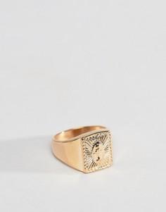 Золотистое кольцо ASOS DESIGN - Золотой