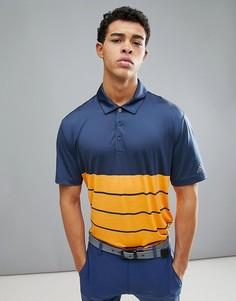 Оранжевое поло с полосками adidas Golf CD3385 - Оранжевый