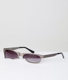 Солнцезащитные очки в квадратной металлической оправе AJ Morgan - Серебряный