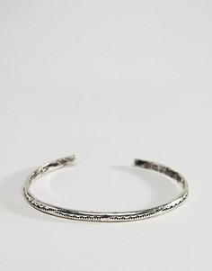 Серебристый браслет с тиснением ASOS DESIGN - Серебряный