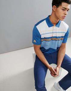 Синяя футболка-поло в полоску adidas Golf Ultimate 365 CF7983 - Синий