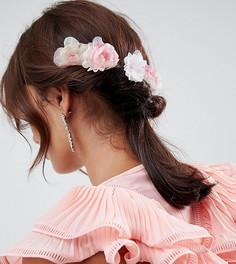4 заколки для волос ASOS DESIGN - Розовый