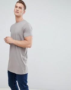 Бежевая супердлинная футболка ASOS DESIGN - Бежевый