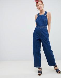 Синий джинсовый комбинезон на кнопках ASOS DESIGN - Синий