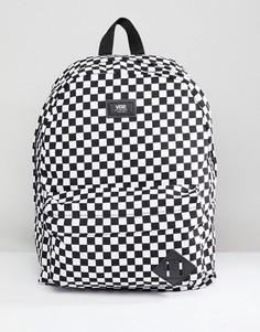 Черный рюкзак в клетку Vans Old Skool II VONIHU0 - Черный