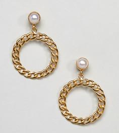 Позолоченные серьги-кольца Ottoman Hands - Золотой