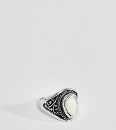 Серебристое массивное кольцо с кремовым камнем DesignB эксклюзивно для ASOS - Серебряный
