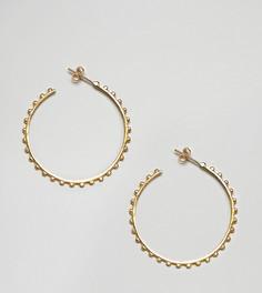 Большие позолоченные серьги-кольца Ottoman Hands - Золотой