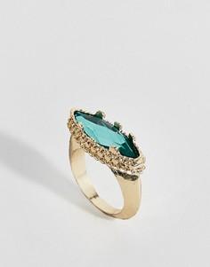 Кольцо с камнем ASOS DESIGN - Золотой