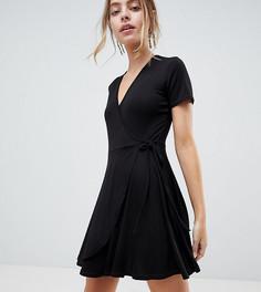 Чайное платье с запахом Boohoo Petite - Черный