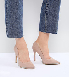 Туфли-лодочки с острым носком New Look Wide Fit - Бежевый