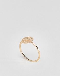 Золотистое кольцо на мизинец с филигранной отделкой ASOS DESIGN - Золотой