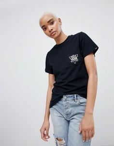 Черная футболка с треугольным принтом на спине Vans - Черный